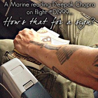 Deepak Chopra Marine it's a sign