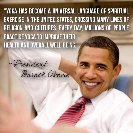 Benefits of Yoga - Southwest Institute of Healing Arts - Obama Quote