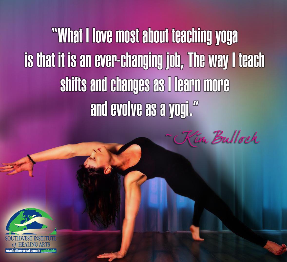 Benefits of Yoga - Southwest Institute of Healing Arts - Kim Bulloch