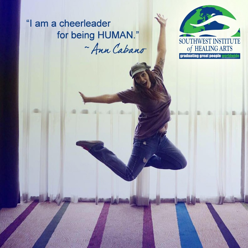 Ann Cabano is a cheerleader for being human