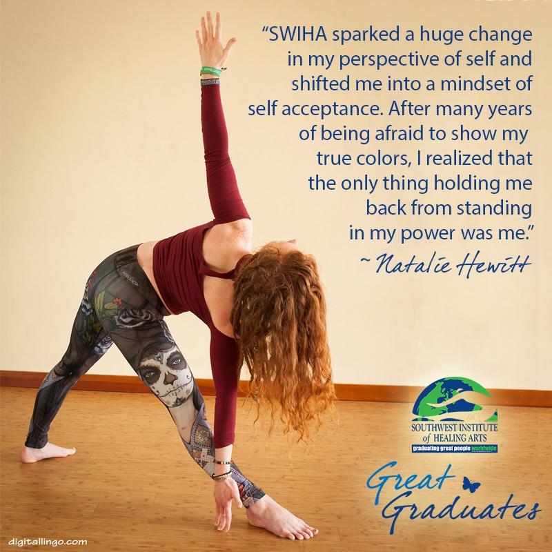 Natalie Hewitt SWIHA Great Graduate Yoga Hatha Gong