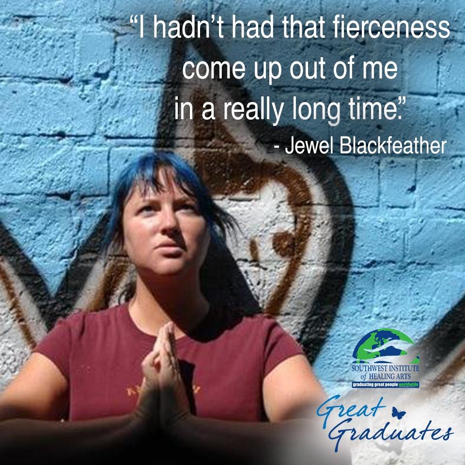 Jewel Blackfeather praying