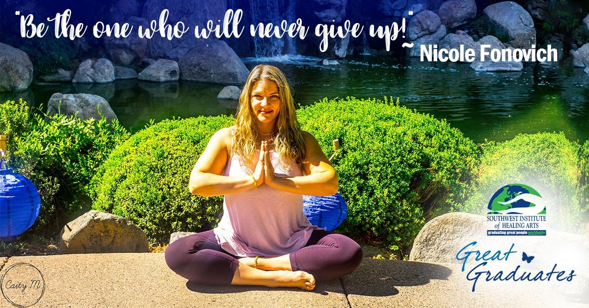Nicole Fonovich SWIHA Great Graduate Yoga